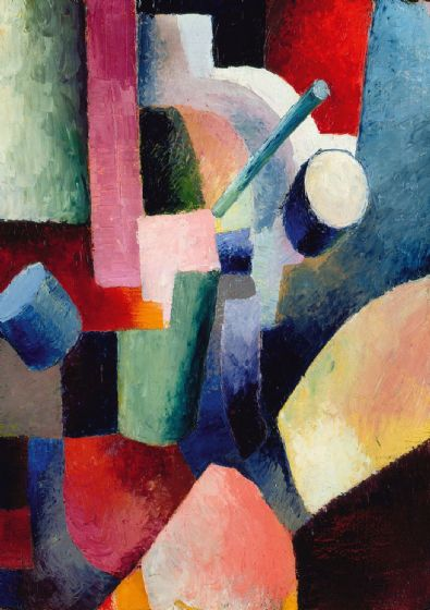 Macke, August: Coloured Composition of Forms. Fine Art Print/Poster. Sizes: A4/A3/A2/A1 (002178)